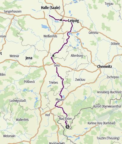 Karte / Elster-Radweg