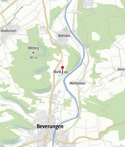 Karte / Kath. Pfarrkirche St. Joseph von 1714 Blankenau