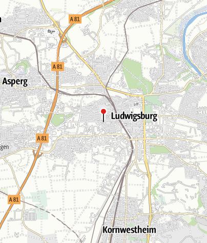 Karte / Ludwigsburg Albrechtstr.