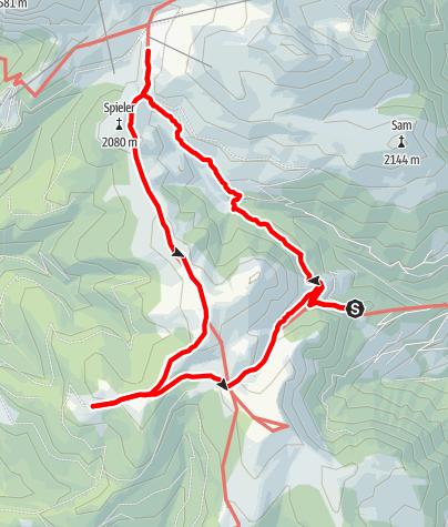 Map / Large Kreuzjoch Circular Route (Kreuzjochrunde)