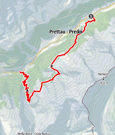 Map / High Altitude Path Predoi-Prettau