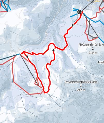 Mapa / Winterwanderung Monte Pana zur Seiseralm