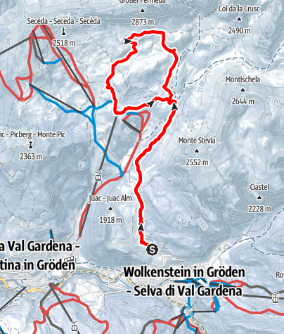Map / Snowshoe excursion in the  Unesco world Heritage