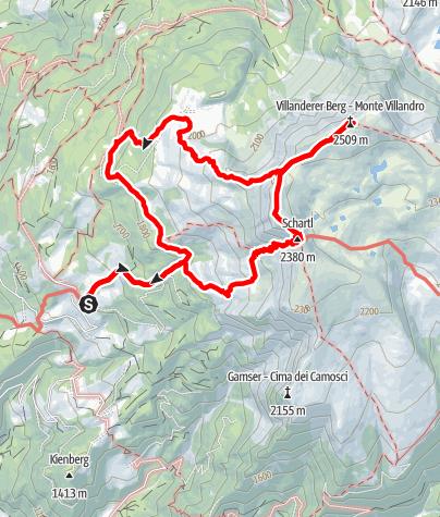 Carte / Sarner Scharte und Villanderer Berg
