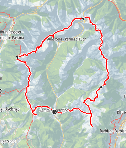 Map / Hufeisentour - High Mountain Trail in the Sarntaler Alps