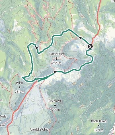 Karte / Der Rundweg um den Monte Peller