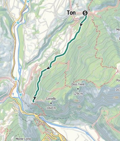 Cartina / Da Vigo di Ton alla Torre di Visione