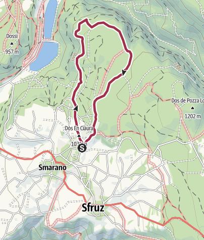 Karte / Der Panoramaweg von Smarano