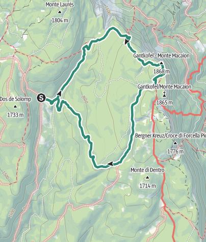 Cartina / Anello con salita al Monte Macaion