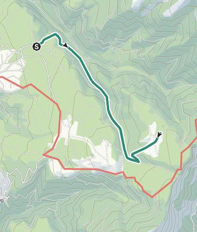 Cartina / Da località Sette Larici alla malga di Coredo