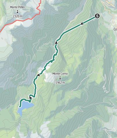 Karte / La Val di Tovel attraverso la galleria di Terres