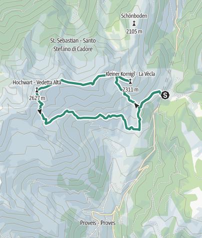 Cartina / Anello con salita a Cima Belmonte e Vedetta Alta