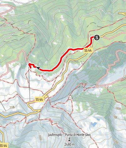 Mapa / Wanderung zur Kalcheralm