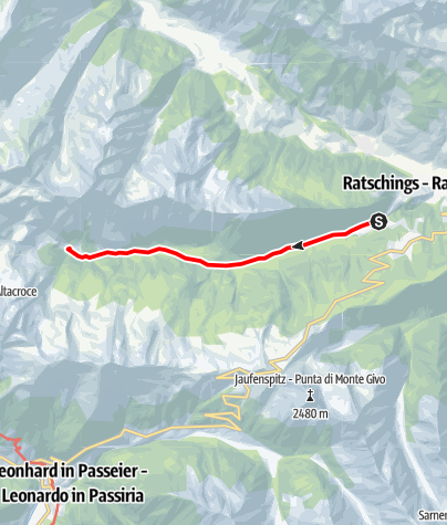Map / Pfeifer Huisele path