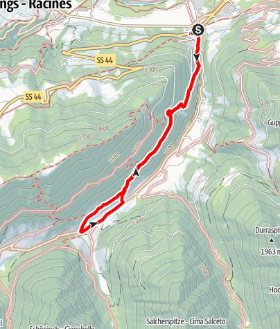 Karte / Panoramaweg Jaufental