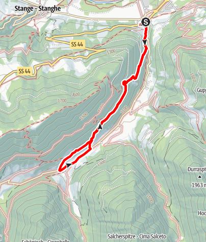 Mapa / Panoramaweg Jaufental