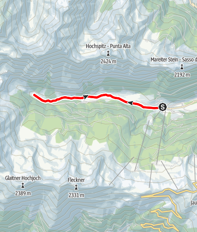 Mappa / A Vallettina in Val Racines