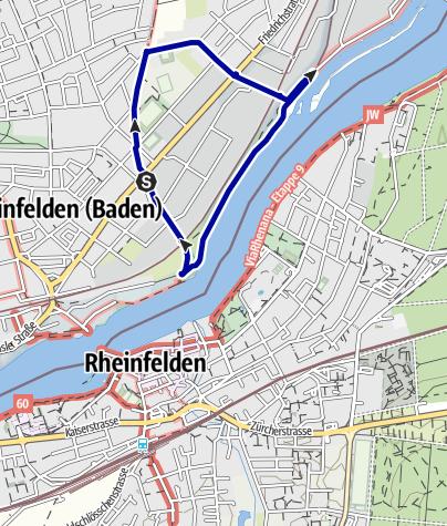 Karte / RHEINFELDER RHEINWEGE: Dürrenbach-Rundweg