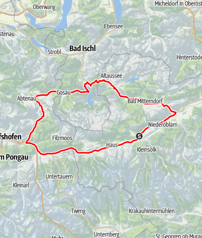 Karte / Rund um den Dachstein