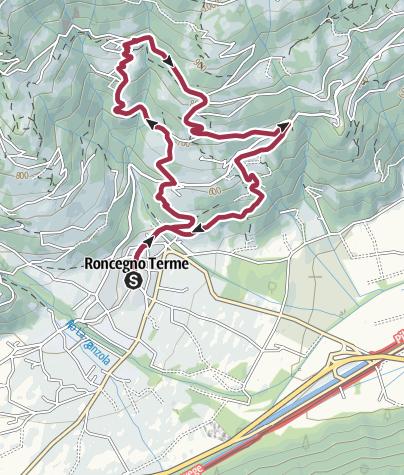 Cartina / Passeggiata di Santa Brigida e del Castagno