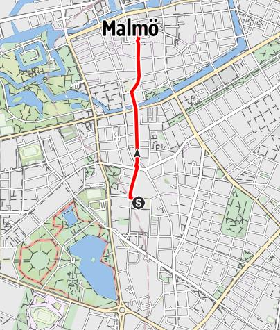 Karta / Barmhärtighetens väg (Birgittavägen) Sankt Johannes kyrka - Sankt Petri kyrka i Malmö