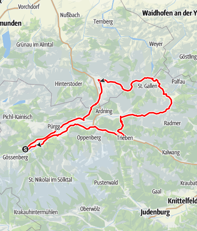 Karte / Gesäuse Tour