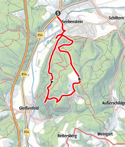 Karte / Wanderung zur Burg Seebenstein & Ruine Türkensturz