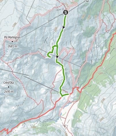 Map / Somtgant - Crap Farreras mit Gipfelbuch - Radons