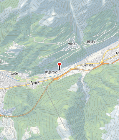 Map / Thermal resort at Brigerbad