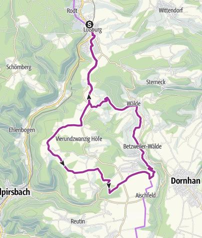 Karte / Loßburg Familienradtour