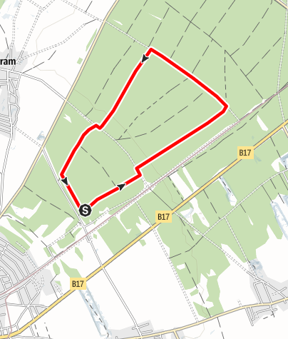 Mapa / Laufstrecke Föhrenwald 6 km