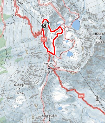 Karte / Klettersteig Kälbersee