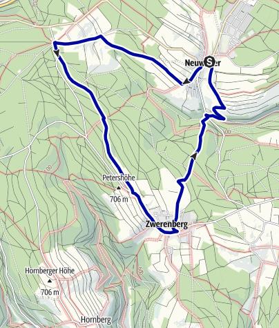 Karte / Rund um Neuweiler | Tour 2