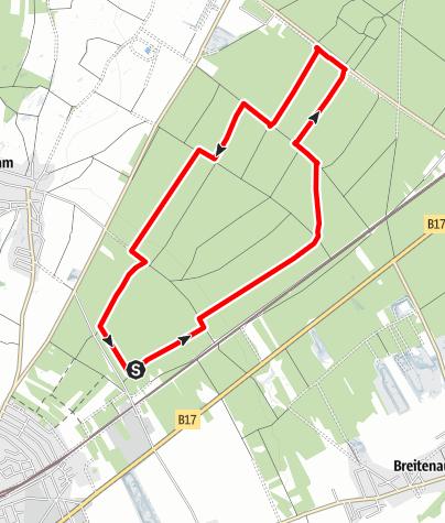 Karte / Laufstrecke Föhrenwald 8,9 km