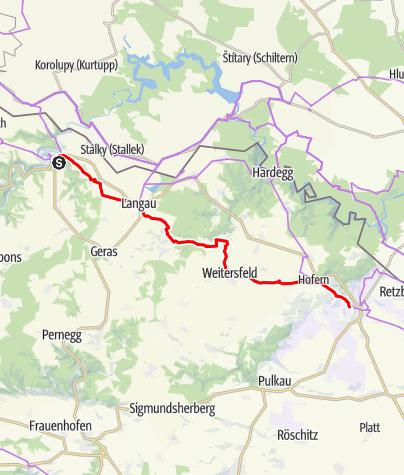 Mapa / Reblaus- & Genuss- Tour - Sternfahrt