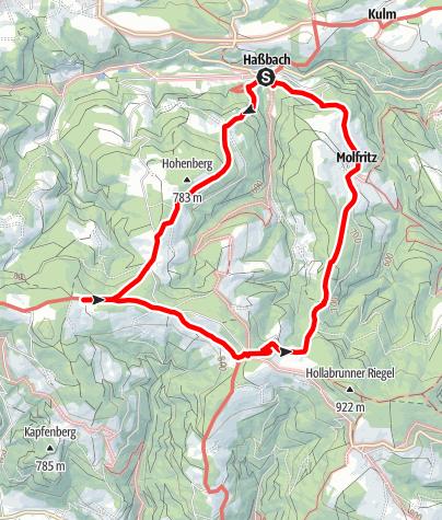 Mapa / Ödenkichner Weg (Warth-Haßbach)