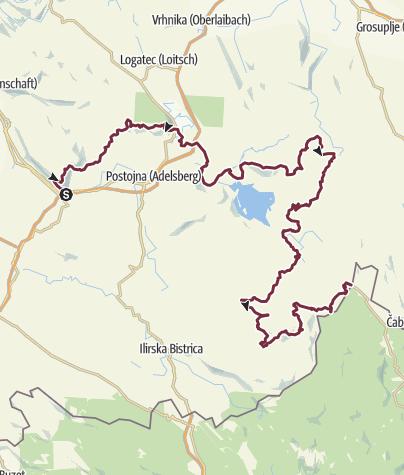 Map / Via Dinarica Slovenia (From Nanos to Babno polje)