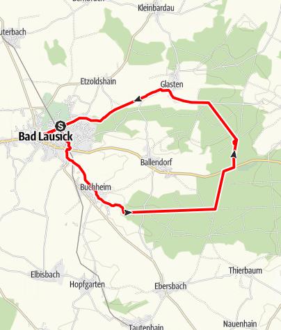 Karte / Wanderung von Bad Lausick zur Parthequelle
