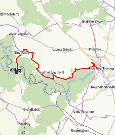 Karte / EV13 Etappe 5: Hardegg - Znaim
