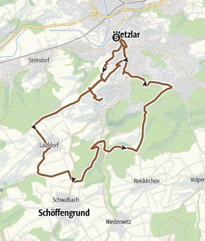 Kaart / Wetzlar MTB1 Ausblicke rund um Nauborn