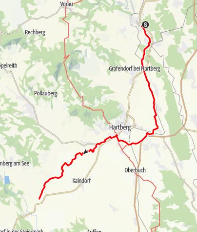 Karte / Heiligenbrunn - Lebing - Fieberbründl Weg Nr. 13