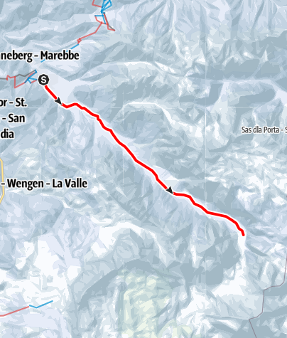 Karte / Winterspaziergang: San Vigilio - Tamersc - Pederü