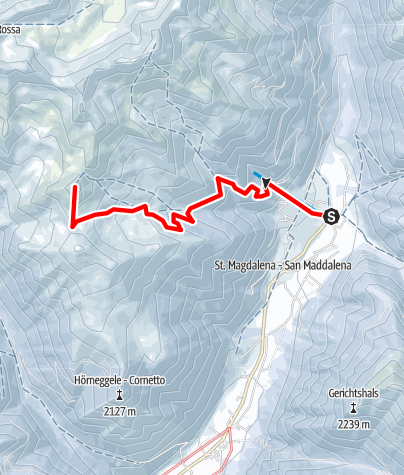 Map / Snowshoe Tour: Hoher Mann in S. Maddalena/Gsieser Tal Valley