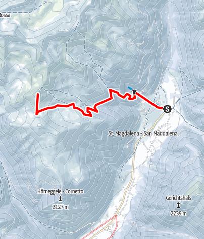 Mapa / Schneeschuhtour: Hoher Mann in St. Magdalena/Gsieser Tal