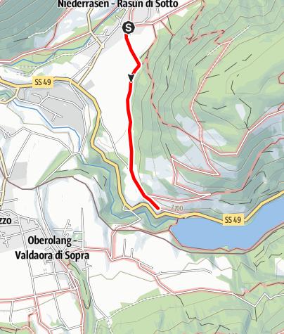 Karte / Spaziergang in die Alte Goste