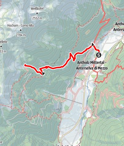 Map / Hiking to the Mittertaler Ochsenalm Hut