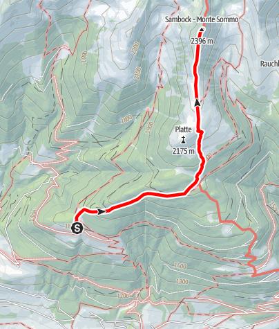 Kaart / Bergtour auf den Sambock