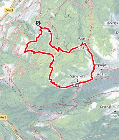 Mappa / Escursione - Quiete alpina