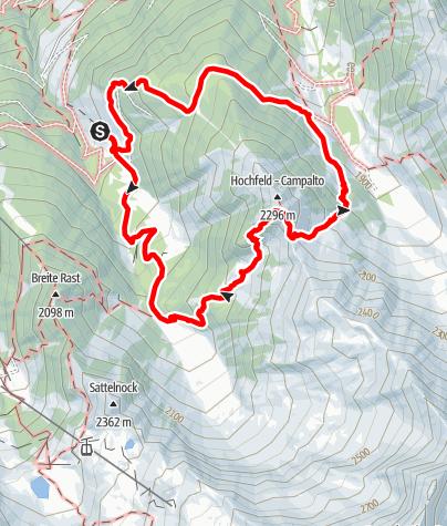 Kaart / Wanderung - Almlandschaft