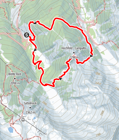 Mappa / Escursione - Paesaggio alpestre